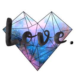 freetoedit love heart space hipstergalaxy