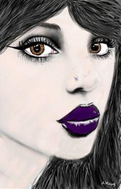 wdpsketchportrait blackandwhite colorsplash people pencilart
