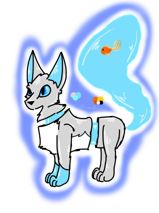 -💙-(Old OC) Mizu-💙- (Adopted by: @littlewolfplaysaj )  Old OC redrawn requested by: @littlewolfplaysaj   Species: Aquatail Sex: Male Possible family relation with Thorn.  --These are the only things I can remember about him.--   #deceasedboundmon #art #arts #draw #drawn #drawing #cat #cats  #fox #foxes #oc #ocs