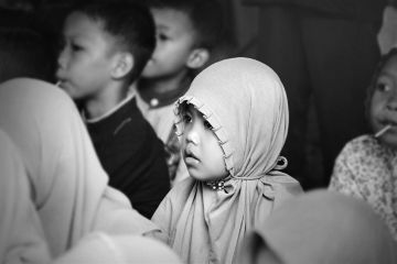 photography blackandwhite cute people muslim