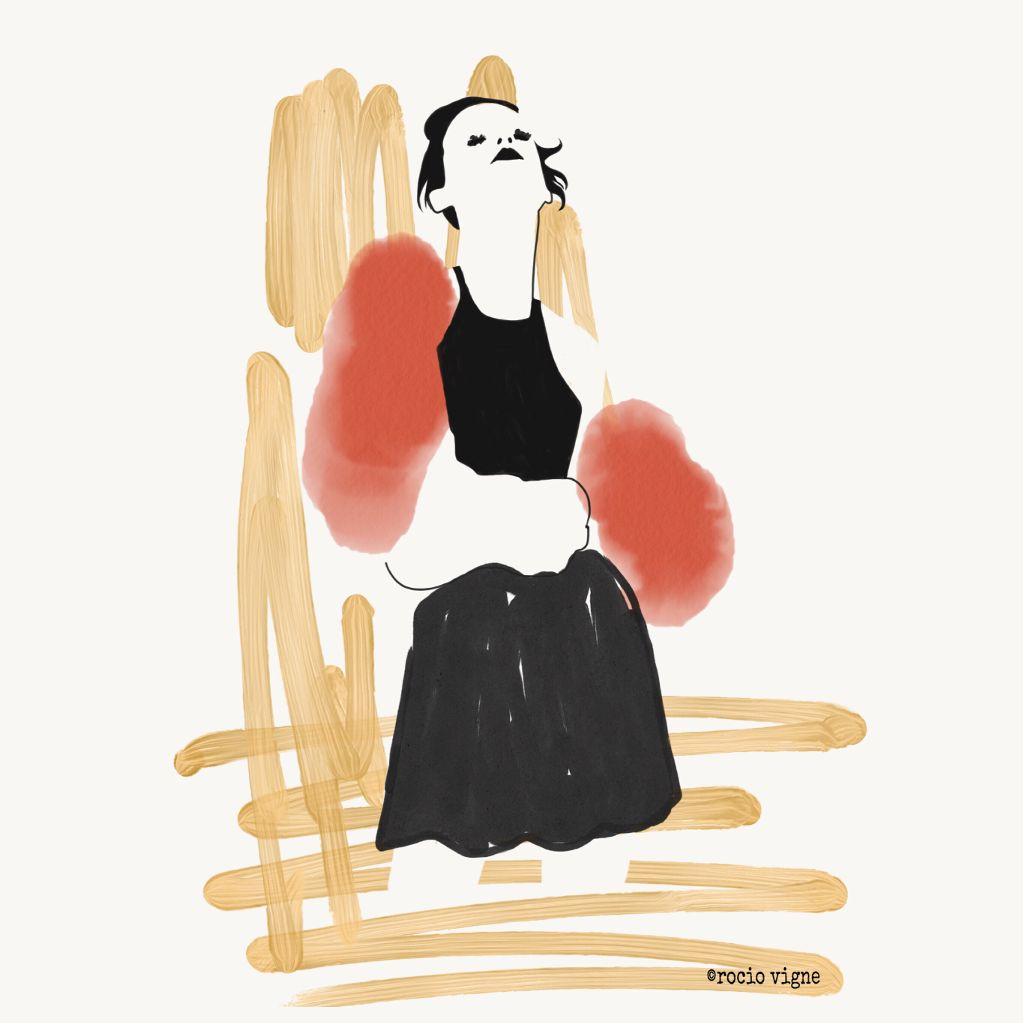 Quick fashion sketch by Rocio Vigne
