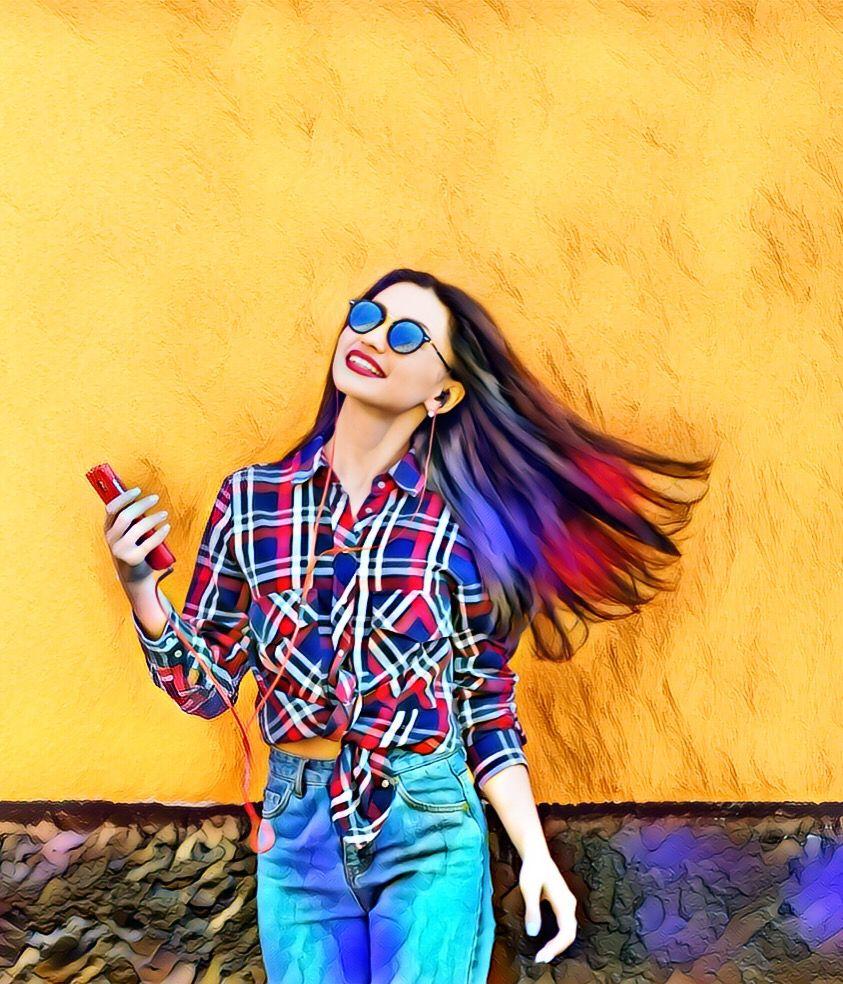 #magiceffect #girl #fun #joy #yellow #colors