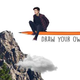 freetoedit remix mountains rocks clouds