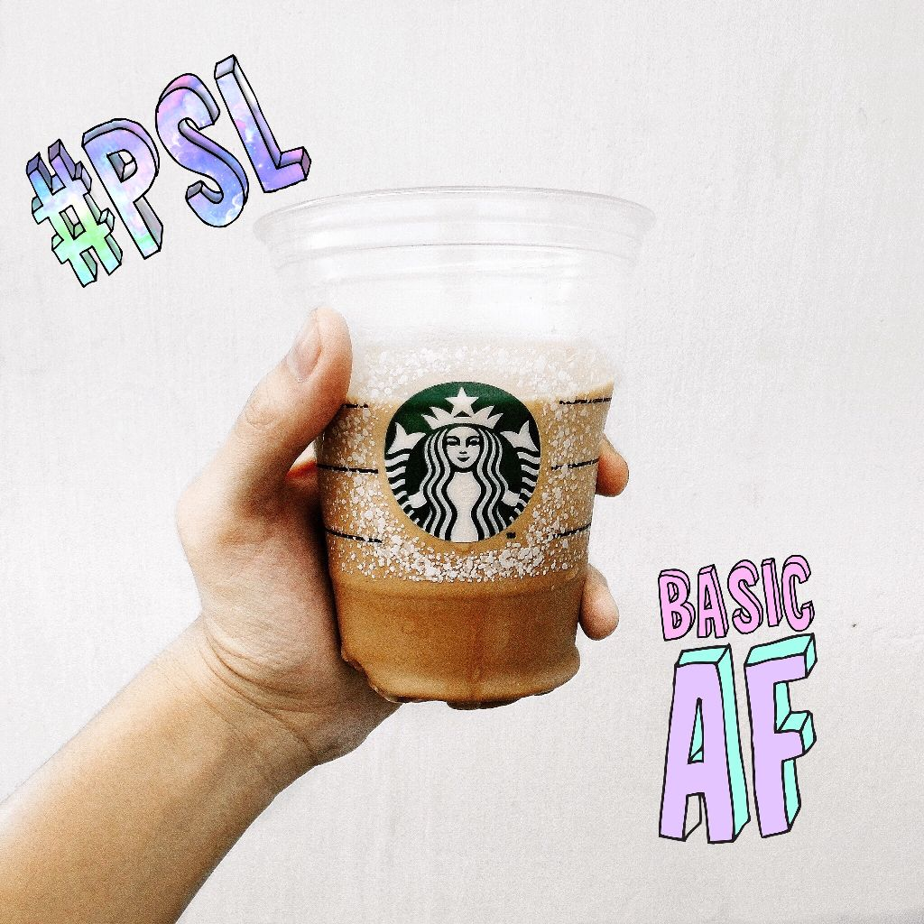 #FreeToEdit it's PSL season!! Check out our new basic sticker package!! 😂
