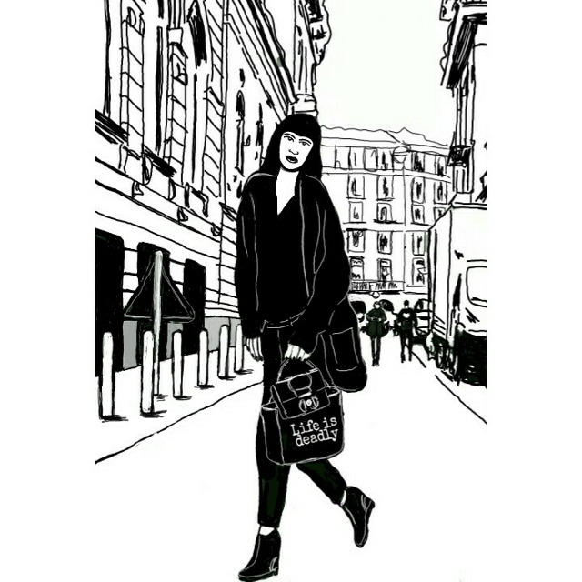 #FreeToEdit  #365project  #lifeisdeadly  #illustration  #comics  #day56  #sketchbook  #mooddrawing  #lifeisblackandwhite  #shoppingday