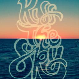 freetoedit kiss sky handwritten words